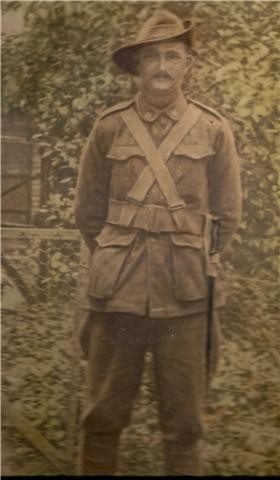 John in uniform.  Undated but probably prior to going overseas.